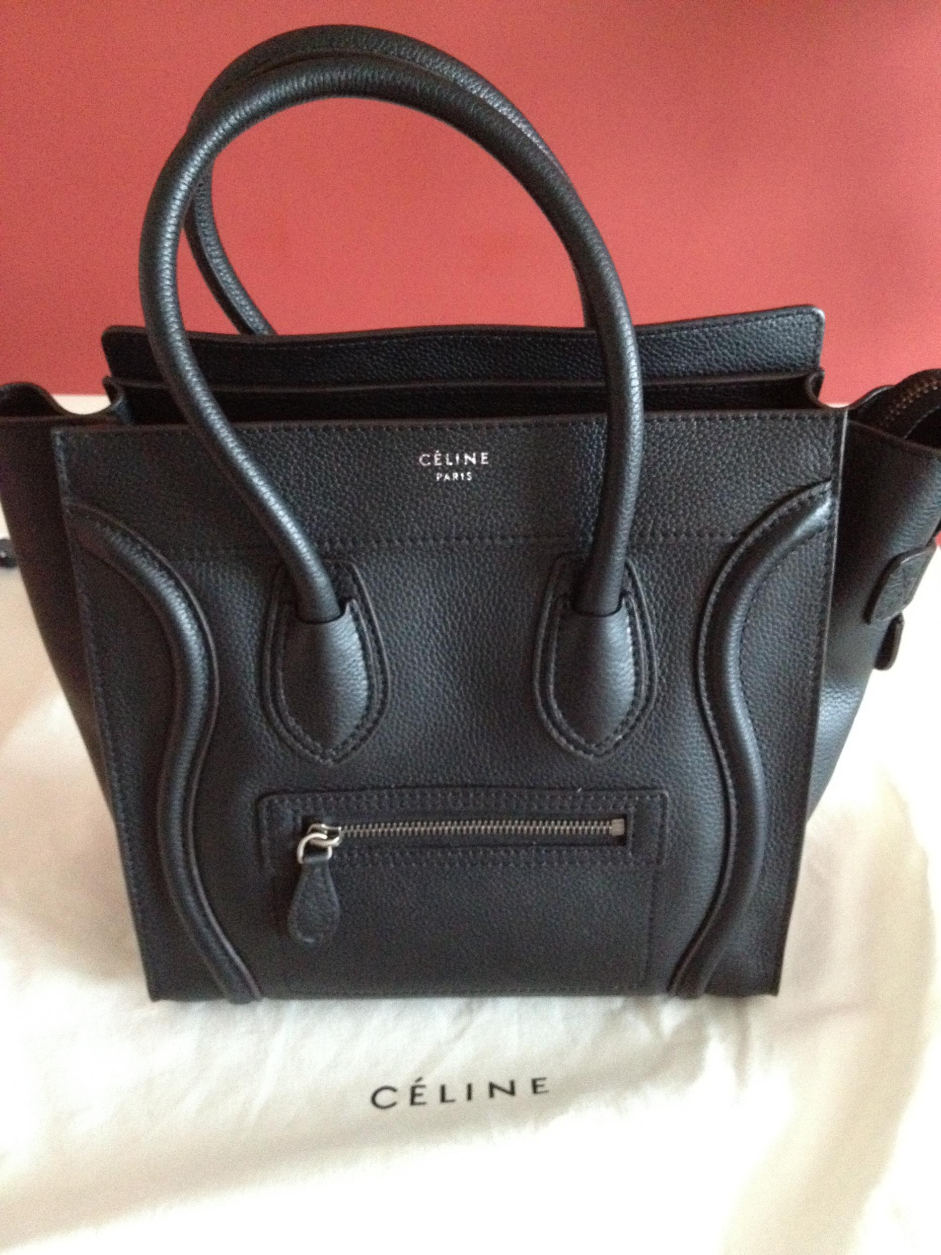 celine crossbody bag - Celine Micro Luggage bag \u2013 COSMOFILE